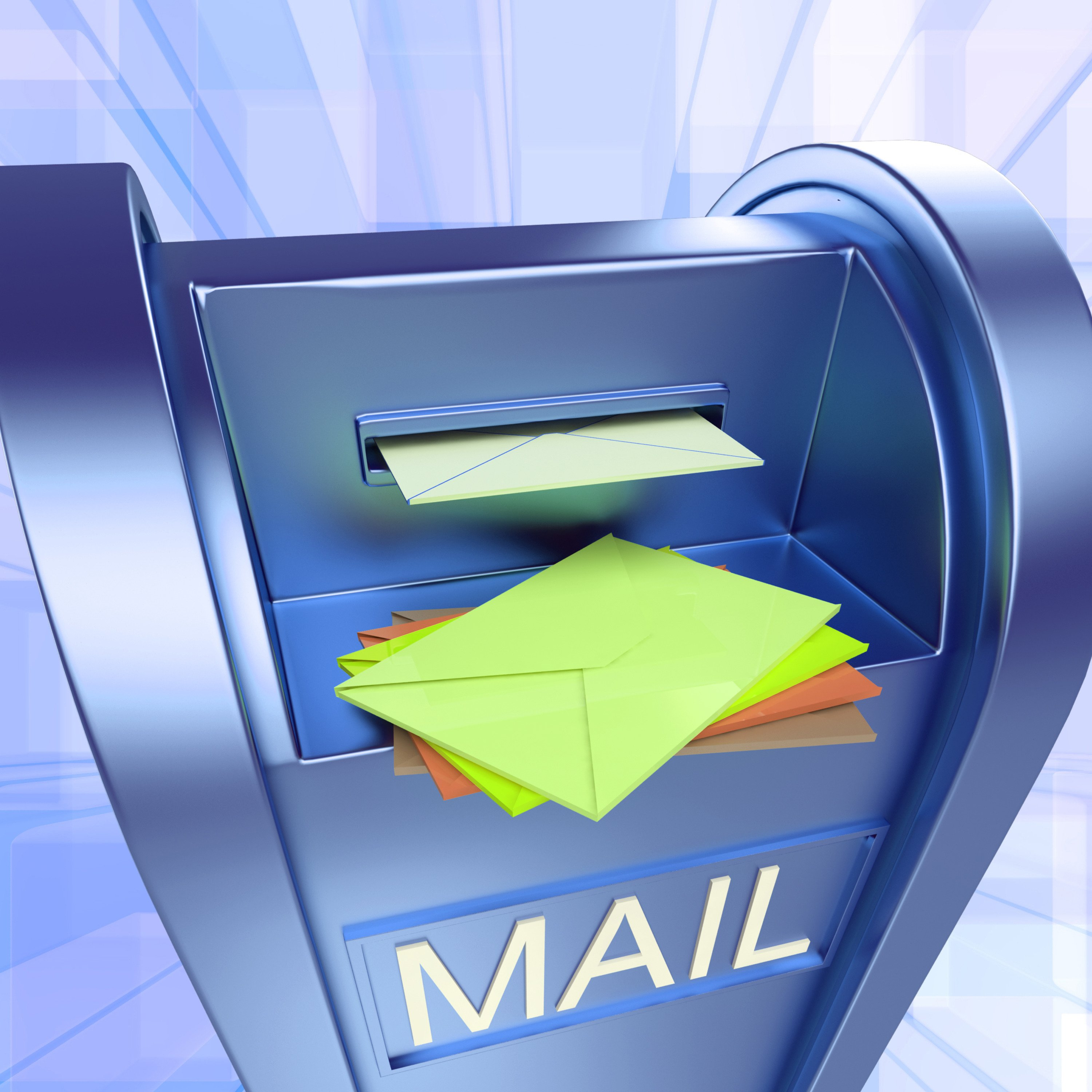 Mail On Mailbox Showing Sending Letters And Communication